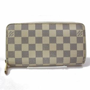 100% Auth Louis Vuitton Zippy Wallet Damier Azur